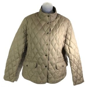 Eddie Bauer goose down quilted jacket coat winter